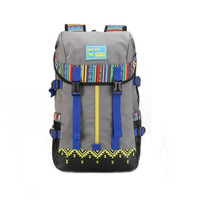 Casual Ethnic Style Large Hiking Camping Backpack Travel Bag Daypack