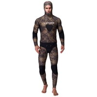3mm Neoprene Spearfishing Wetsuit Men For Underwater Fishing Hunting Pesca Peche Camouflage With Diving Suit Vest Open Cell Hood