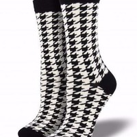Bamboo Large Houndstooth Socks