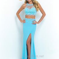 Blush Two Piece Long Prom Gown 9919