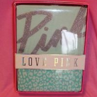 VICTORIA'S SECRET ~ VS ~ LOVE PINK ~ BOXED GIFT SET ~ TEE & YOGA SMALL ~ AQUA