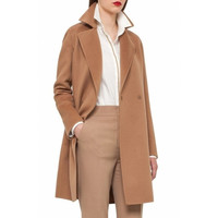 Camel in stock UK 2017 Fall Winter Women Notched lapel Single Button Simple Long Coat ZA style Career Overcoat manteau femme casaco feminino