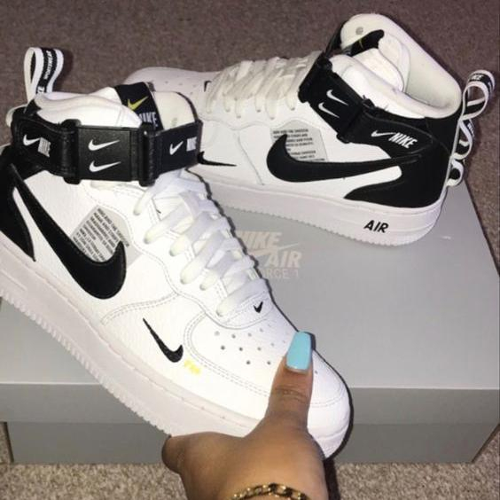 Image of Nike Air force 1 AF1 classic hot sale high top men women sneakers Shoes