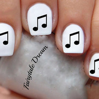 1150 Music Note 20 Water Slide Nail Art Transfer Decals stickers