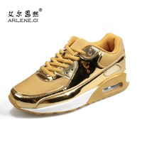 Tenis Masculino 2018 Tennis Shoes for Men Women Breathable Lightweight Sneakers Male Sports Gold Silver Shoes Plus Size 36-46