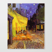 Vincent Van Gogh Cafe Terrace At Night Canvas Print by Art Gallery