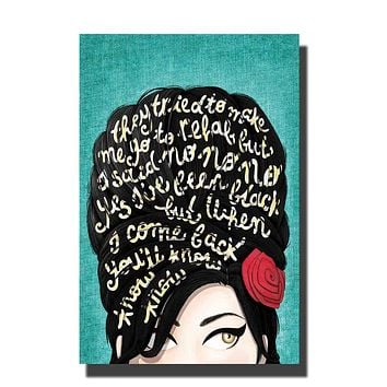 Amy Winehouse Music Singer Star Hot Art Poster Print Home Wall decoration 8x12 12x18 24x36inch decor canvas room decor|Wall Stickers