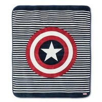 "Captain America® Throw - 50""x60"" - Blue"