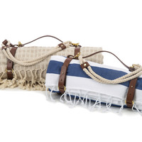 Leather Blanket/Yoga Mat Carrier