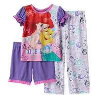 Disney's The Little Mermaid Ariel & Flounder Toddler Girl Pajama Set