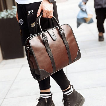 Classic Leather Men's Briefcase