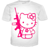 Hello kitty with Ak47 shirt