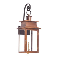 ELK Outdoor Gas Shepherd'S Scroll Wall Lantern Maryville Collection In Solid Brass In an Aged Copper finish. - 7907-WP