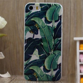 Summer Cute Banana Leaf Case Cover for iPhone