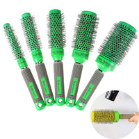 Pro Temperature Color Chage Ceramic Iro Radial round Comb dressing Brush rel Curler Brush