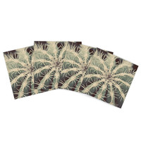 "Angie Turner ""Cactus"" Plant Indoor/Outdoor Place Mat (Set of 4)"