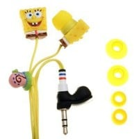 iHip Nickelodeon SBF10154 - SpongeBob Sculpted Earbuds (Yellow) (Discontinued by Manufacturer)