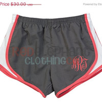 SALE Monogrammed Running Shorts, Monogram Shorts, Monogrammed Preppy, Personalized Running Shorts, Bridesmaid Gift, Ladies, Women, Norts, Wo