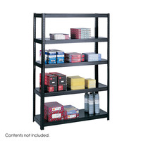 Safco Office Industrial Garage Commercial Boltless 48 x 18 Storage Shelving Black