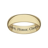Sweet Sentiments 18k Gold Over Sterling Silver Wedding Band (Yellow)