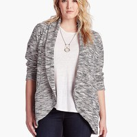 Lucky Brand Cocoon Cardi Womens - Black Multi