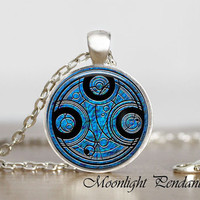Time Lord Seal Pendant, Dr Who Necklace, Dr Who Pendant Dr Who Jewelry, Whovian Jewelry, Time Lord Pendant, Mystic Symbol