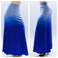 """Forever Me"" Ombré Style Royal Blue Signature Maxi, Spring/Summer Apparel"