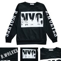 Packii-NYC Letters Print Hoodies Sweatshirt Long Sleeve Thick Loose Blouse Warm Womens Tops Sweater Black S M L XL = 1920370820