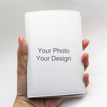 Custom Personalised PU Leather Passport Holder Case Wallet Cover -- Your own photo and design, custom made passport cover