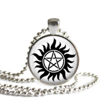 Anti Possession Silver Plated Necklace Handmade Supernatural Jewelry