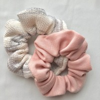 Set of Two Soft Handmade Scrunchies