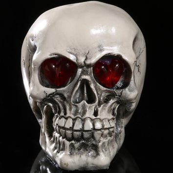 Skull Skulls Halloween Fall Saim Resin  Model Halloween LED Lighting  Head Home Decoration Glowing Crafts Decorative Craft  Statue JJ50573 Calavera