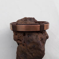Leather Bracelet with Copper