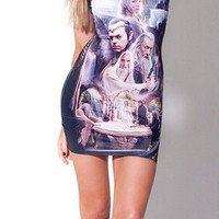 HOT SALE!! New Fashion Women's Sexy Summer Dress With 3D Graphics Party Dress