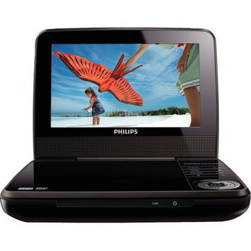 "Philips 7"" Lcd 2-hour Playback Portable Dvd Player"