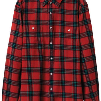 Diamond Ox Flannel Longsleeve Buttonup XL Red