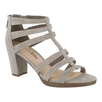 Bella Vita Womens Leah Leather Open Toe Casual Strappy Sandals,9W /Taupe