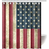 The American Flag Pattern Waterproof Shower Curtain Bathroom Decoration 150cmX180cm - TH-8711 (Size: 150cm by 180cm, Color: Multicolor)