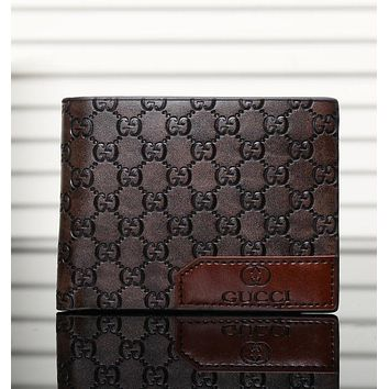 Best Gifts GUCCI Men Leather Purse Wallet
