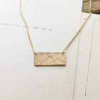 Mountains on Bar Necklace