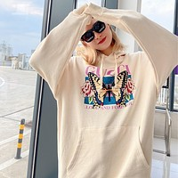 GUCCI butterfly print cotton sweatshirt