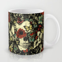 Vintage Gothic Lace Skull Mug by Kristy Patterson Design