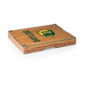 Baylor Bears - Concerto Glass Top Cheese Cutting Board & Tools Set, (Bamboo)