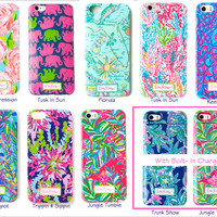 Lilly Pulitzer Monogrammed Phone Cases (iPhone 5/5S or 6/6 Plus)
