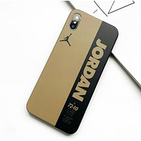 NIKE Jordan Fashion New Letter People Print Women Men Protective Cover Phone Case