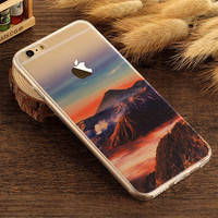 Volcano Case TPU Cover for iphone 7 7 Plus & iphone 6 6s Plus & iphone se 5s + Gift Box