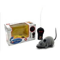 Funny Remote Control RC Wireless Rat Mouse Toy for Cat Dog Pet Novelty Gift (Grey)