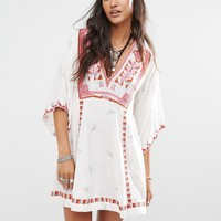 Free People Tulum Smock Dress with Embroidery at asos.com
