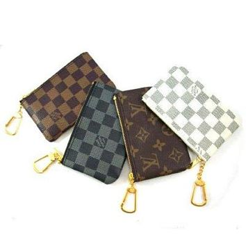 Louis Vuitton New Fashion Clutch Bag Wristlet Women Men Key Pouch