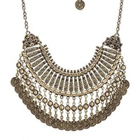 Natalie B Jewelry Fit for a Queen Necklace in Metallic Bronze